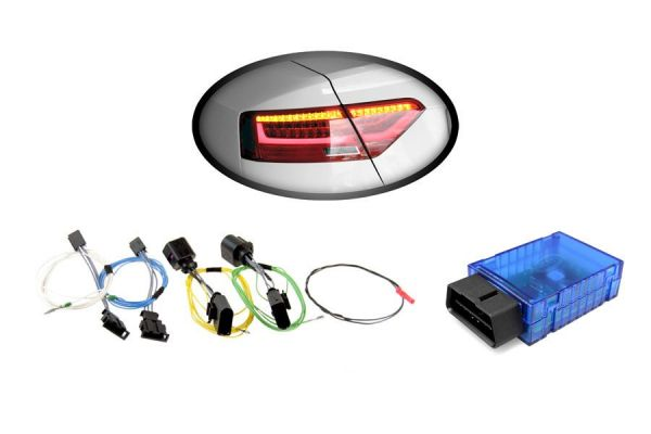 Kabelsatz + Codier-Dongle LED-Heckleuchten für Audi A5 / S5 Facelift LED > auf > LED facelift