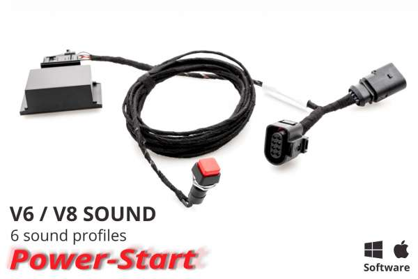 40180 - Sound Booster Pro Active Sound für Audi A6 4G, A7 4G, SQ5 Ohne Bluetooth