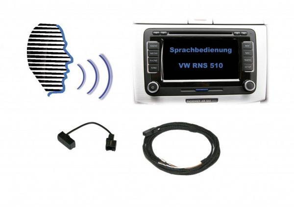 Nachrüst-Set Sprachbedienung für VW RNS 510 mit Mikrofon
