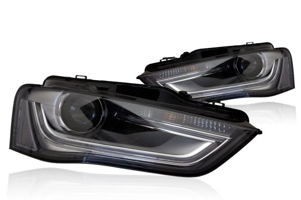 bi xenon scheinwerfer led tfl f r audi a4 8k facelift. Black Bedroom Furniture Sets. Home Design Ideas