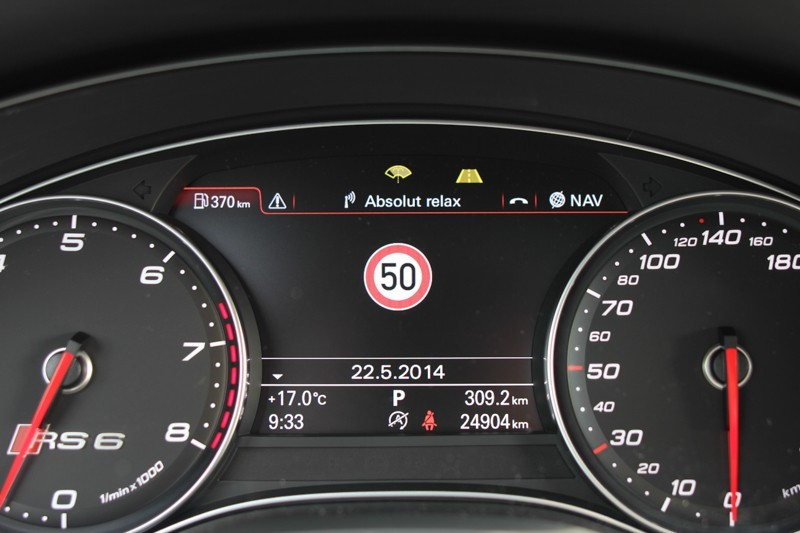 Traffic sign recognition for Audi A6, A7 4G