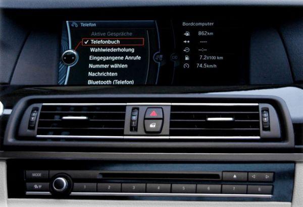FISCON Freisprecheinrichtung Pro für BMW F-Serie Fahrzeuge ohne USB Schnittstelle in der Armlehne