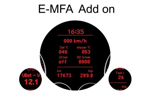 36810 - E-MFA Anzeige von Ladedruck, Öltemperatur uvm. im Tacho