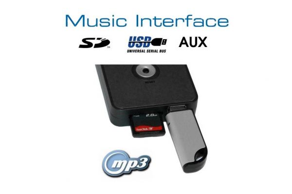 36527 - Digitales Music Interface USB SD AUX Mini ISO für Audi, VW, Seat, Skoda
