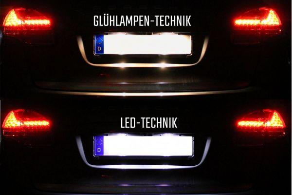 39800 - Komplett-Set LED Kennzeichenbeleuchtung für Porsche Cayenne