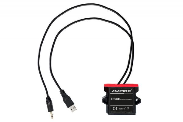 41026 - A2DP Bluetooth Receiver 3,5 mm Klinke, USB Ampire BTR300
