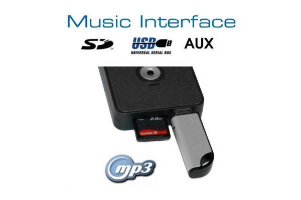 36348 - Digitales Music Interface USB SD AUX für Honda Steckverbindung Blau