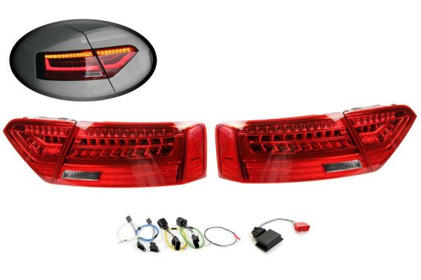 Komplett-Set LED-Heckleuchten für Audi A5 / S5 Facelift LED > auf > LED facelift
