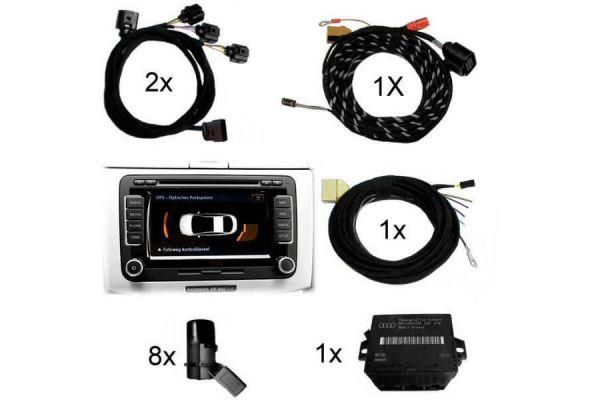 36843 - APS+ plus (optische Anzeige MMI, Radio) Front + Heck für Audi Q5 8R Bis Modelljahr 2012