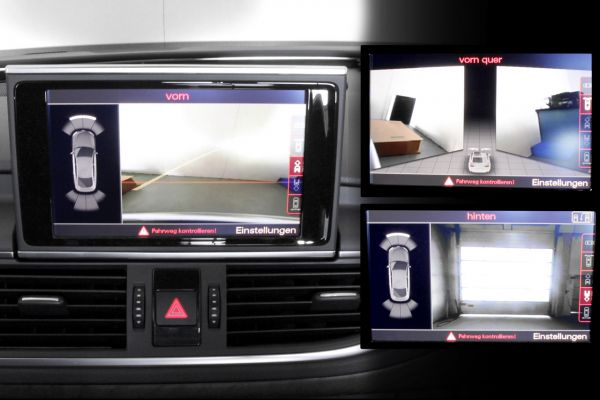39071 - Komplett-Set Front- und Rückfahrkamera für Audi A6 4G Chrom (4ZB)
