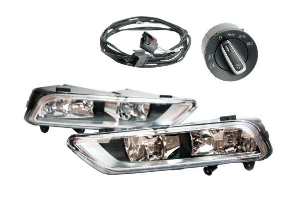 38625 - Nachrüst-Set Nebelscheinwerfer (NSW) für VW Passat B7 MIT Auto-Licht Assistent