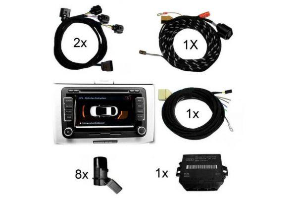 Komplett-Set Park Pilot Front & Heck inkl. OPS für VW T5 7E Standard bis Mj.2012 (PR-Nr. 4N0, 4N2)