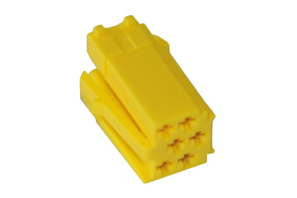 35473 - MINI ISO Steckergehäuse 6-polig gelb, 10 Stück