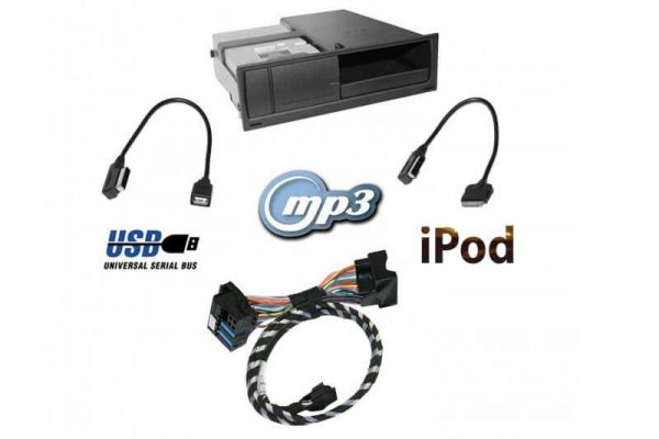 Nachrüst-Set AMI (Audi music interface) RNS-E für Audi A3 8P, TT 8J iPod