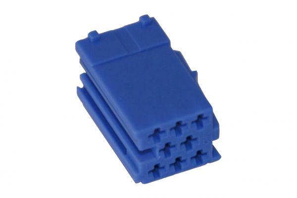 30048 - MINI ISO Steckergehäuse 8-polig blau, 10 Stück