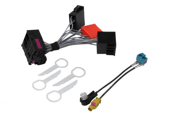 34521 - RNS-E Bundle RNS-E Adapter Komplettset Audi A3 8P, A4 8E Sound 9VD