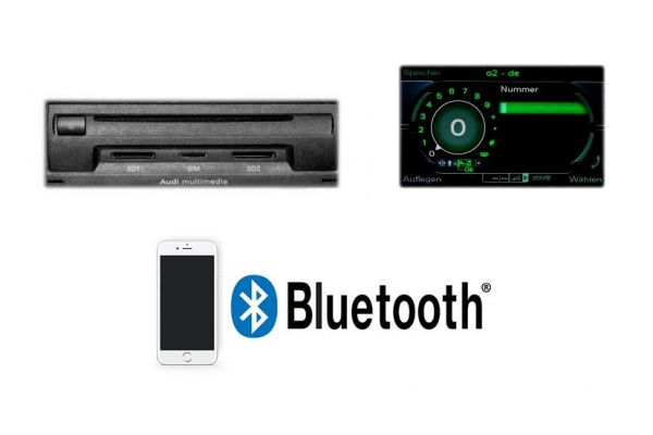37729 - Handyvorbereitung Bluetooth für Audi Q7 4L MMI 3G Komplett