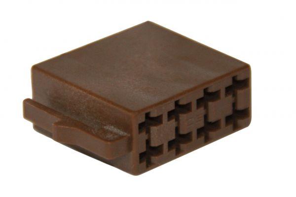 35480 - ISO Lautsprecher-Steckergehäuse 8-polig, 10 Stück