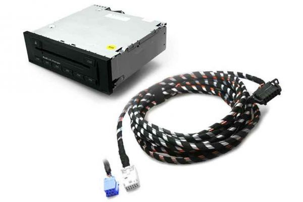 Audi CD-Wechsler inkl. Kabelsatz für Audi A3 8P, A4 8E, TT 8J Quadlock, 1,8 m Länge
