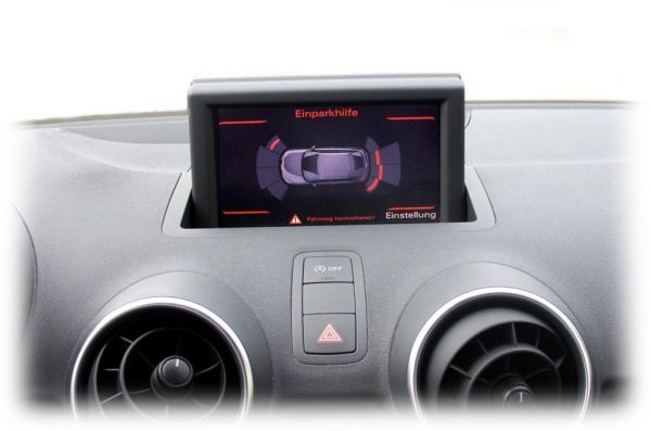 Komplett-Set Einparkhilfe plus - Front und Heck für Audi A1 8X Ohne RDK / Ohne Sitzheizung