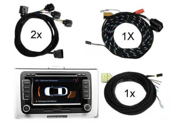 Kabelsatz-Set Park Pilot Front + Heck inkl. OPS für VW Golf 6 VI Golf 6 VI