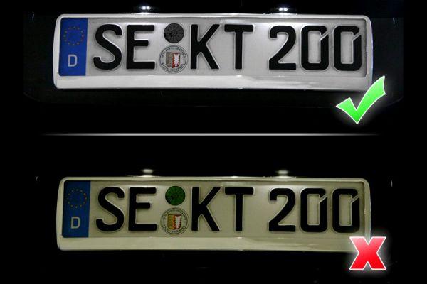 38062 - Komplett Set LED Kennzeichenbeleuchtung VW Touareg 7P