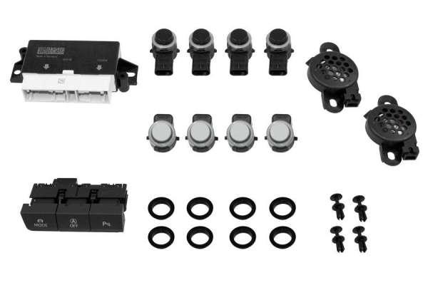 39871 - Komplett-Set APS+ (optische Anzeige MMI) Front und Heck für Seat Leon 5F Bis Modelljahr 2016