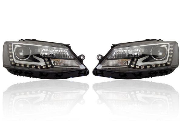 39212 - Bi-Xenon Scheinwerfer Set inkl. aLWR LED TFL für VW Jetta 5C