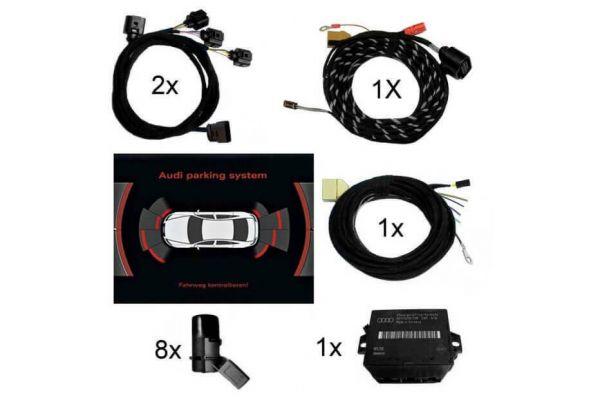Komplett-Set APS+ plus (optische Anzeige) Front & Heck für Audi A4 8K Bis Modelljahr 2012